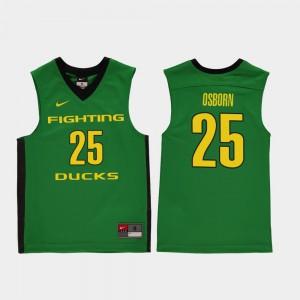 Youth Green Luke Osborn Oregon Jersey Replica #25 College Basketball 364291-178